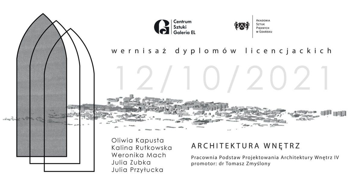 Prezentacja Dyplomowych Prac Licencjackich Architektury Wnętrz ASP w Gdańsku
